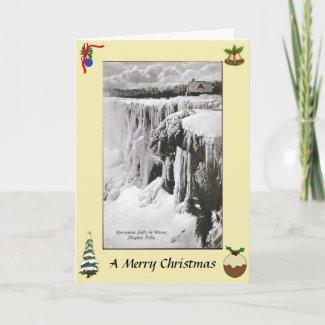 Christmas Card - Niagara Falls in Winter