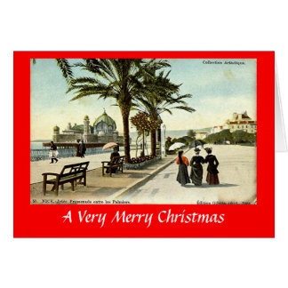 Christmas Card - Nice, Jetee Promenade