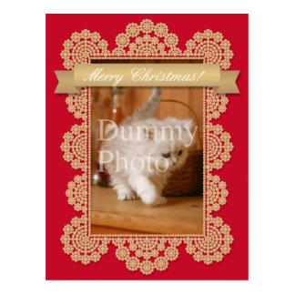 Christmas card of photo frame post card