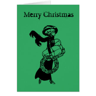 Christmas card original vintage design