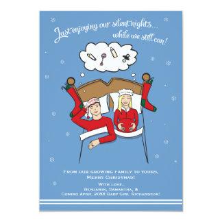 Christmas Card Pregnancy Announcement - Blonde