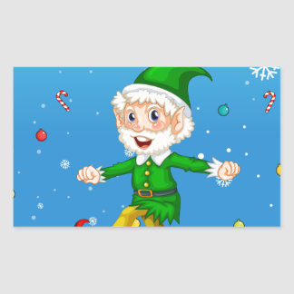 Christmas card rectangular sticker