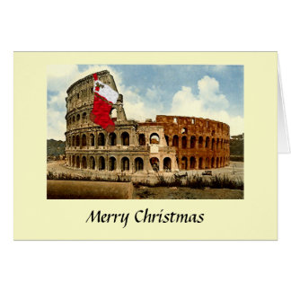 Christmas Card - Rome, The Colosseum