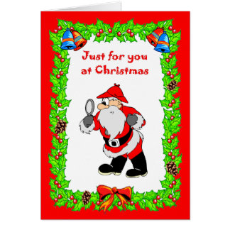 , Christmas card  Santa Sherlock