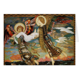 Christmas Card: St. Bride Carried by Angels Greeting Card