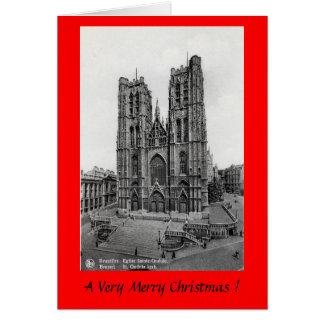 Christmas Card - St Gudule, Brussels