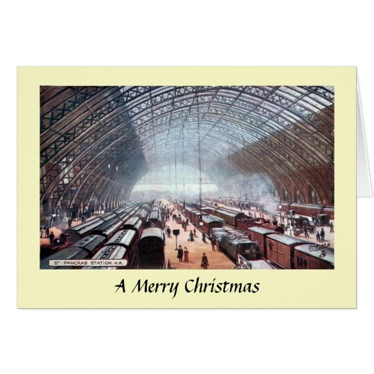 Christmas Card - St Pancras Station, London