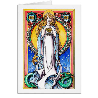 Christmas Card: The Immaculate Conception Card