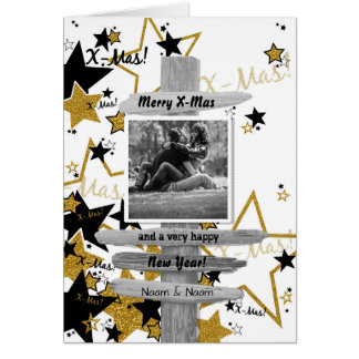 Christmas card - trendy photograph card - ASTRE