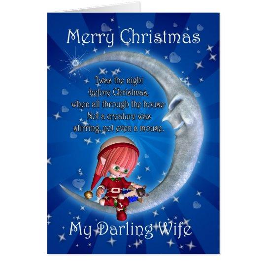 Christmas card, Wife Christmas, Snowman on the Moo