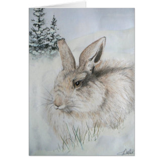 Christmas Card - Winter Rabbit