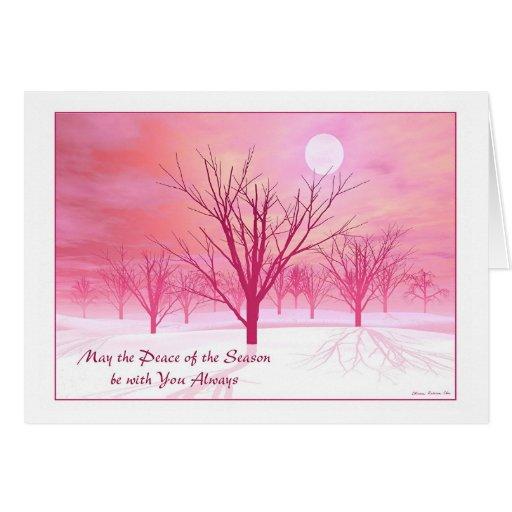 "Christmas Card - ""Winter Trees"""