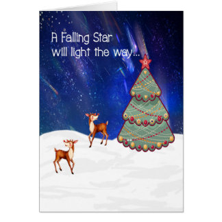 Christmas Card with a Designer Tree & Deer
