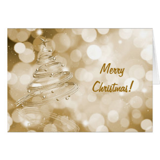 Christmas Card with abstract tree design