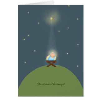 Christmas Card with baby Jesus nativity