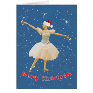 Christmas Card with Ballet Dancer
