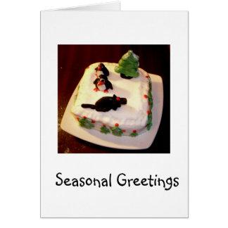 Christmas Card with Funny Christmas Cake Photo