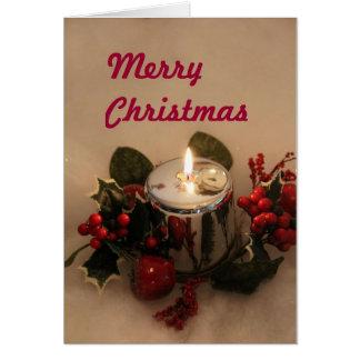 Christmas card with Merry Christmas