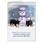 Christmas Card With Rottweiler Puppies - Called Wh