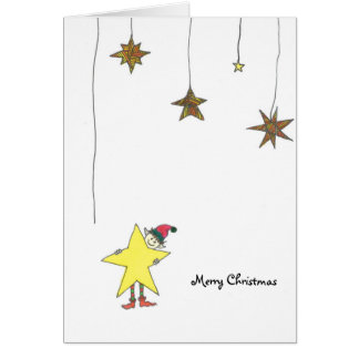 Christmas card with star