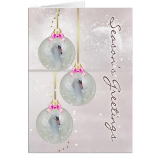 Christmas Card With Swan - Fantasy Swan Art - Orna