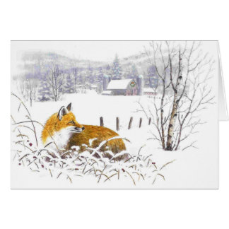Christmas card-with your own sentiment note card