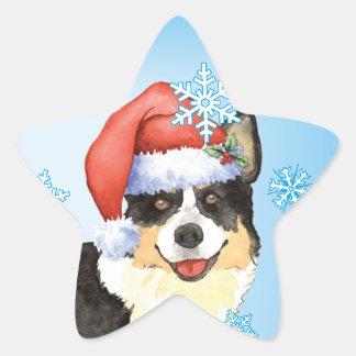Christmas Cardigan Welsh Corgi Star Sticker