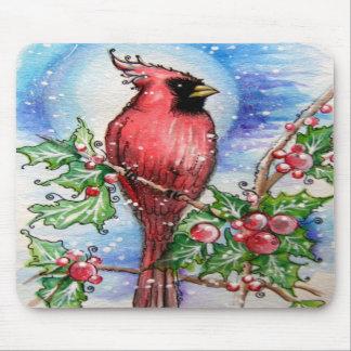 Christmas Cardinal Design Mousepads