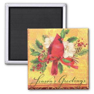 Christmas Cardinal Magnet - Stocking Stuffer