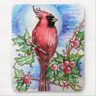Christmas Cardinal Mouse Pad
