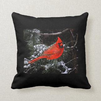 Christmas Cardinal Reversible (Black) Cushion