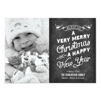 Christmas Cards - Chalkboard Typography