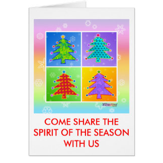 Christmas Cards - Invitations - Pop Art Tree