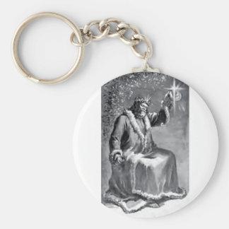 christmas carol basic round button key ring