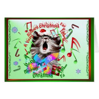 Christmas Carol Kitty Greeting Cards