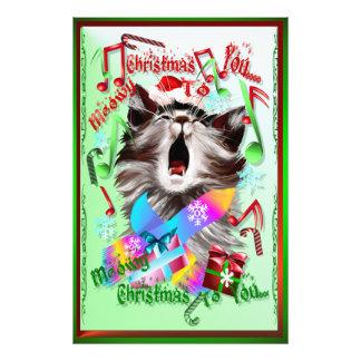 Christmas Carol Kitty Photo Art