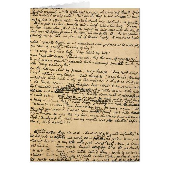 Christmas Carol Original Manuscript Card