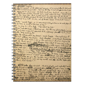 Christmas Carol Original Manuscript Notebook