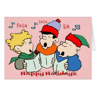 Christmas Carolers Greeting Card
