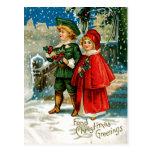 Christmas Carolers Postcard