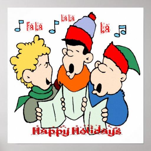 Christmas Carolers Poster