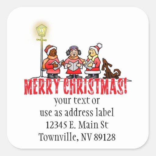 Christmas Carolers Stickers