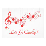Christmas Caroling Party Personalized Invitations