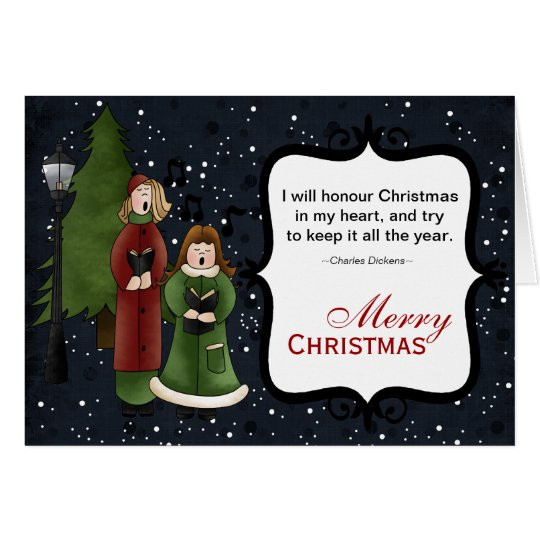 Christmas Carols Card