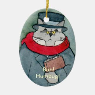 Christmas Carol's EbeMeowzer Scrooge Christmas Ornament