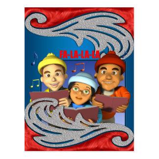 Christmas Carols Holiday Postcard