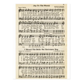 Christmas Carols: Joy to the World Postcard