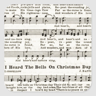 Christmas Carols: Joy to the World Square Sticker
