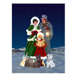 Christmas Carols Postcard