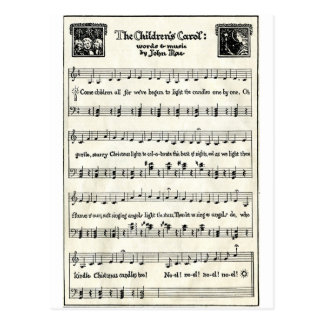 Christmas Carols: The Children's Carol Postcard